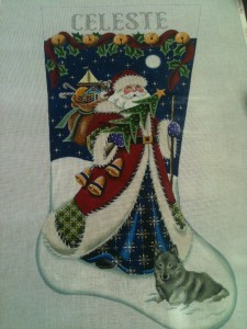 Celeste's Stocking by Rebecca Wood Designs.