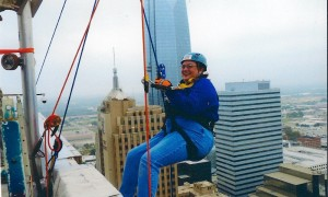 Me hangin over the Edge of the Sandridge building 10/12/2012
